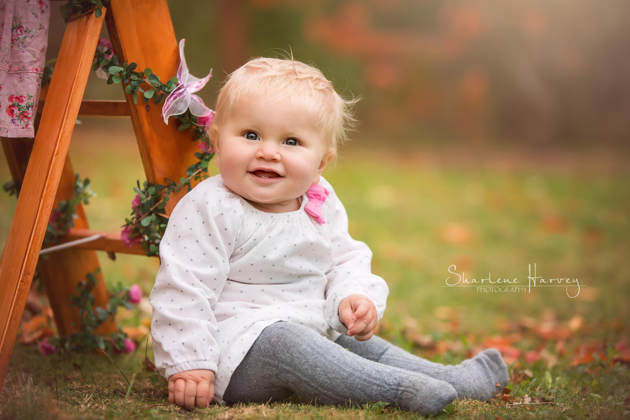 Beautiful baby photographed on the Mornington Peninsula