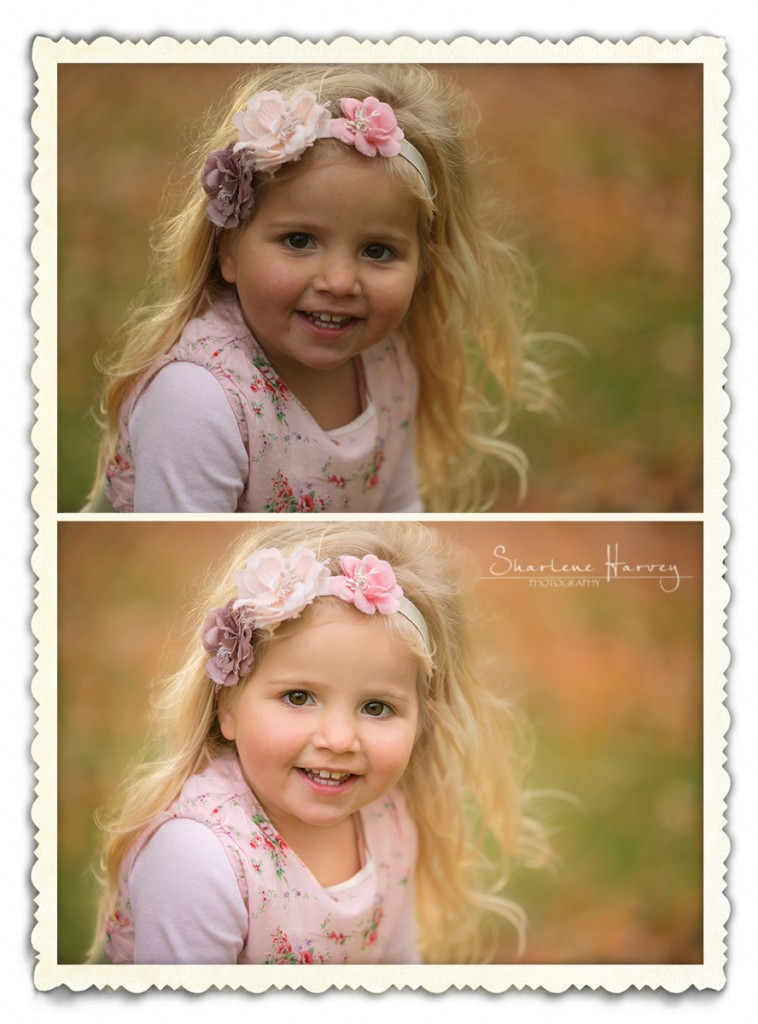 Little girls smiling for the camera