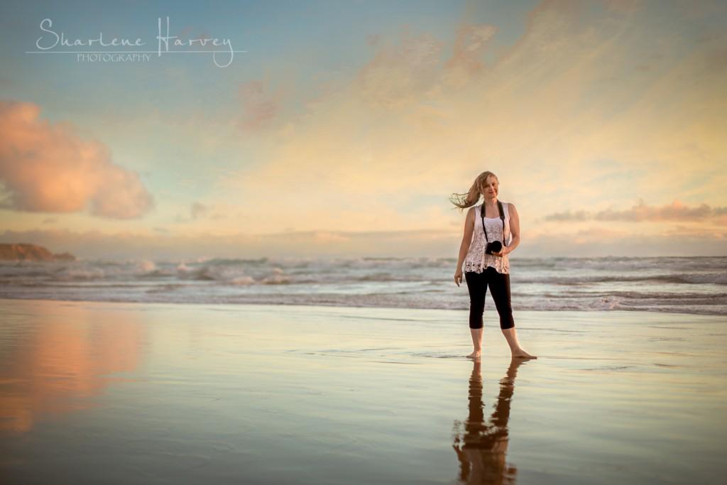 Sharlene Harvey Photographer at the beach
