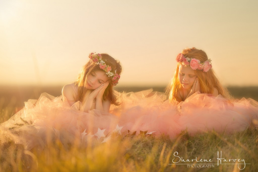 Two young girls dreaming in the sun